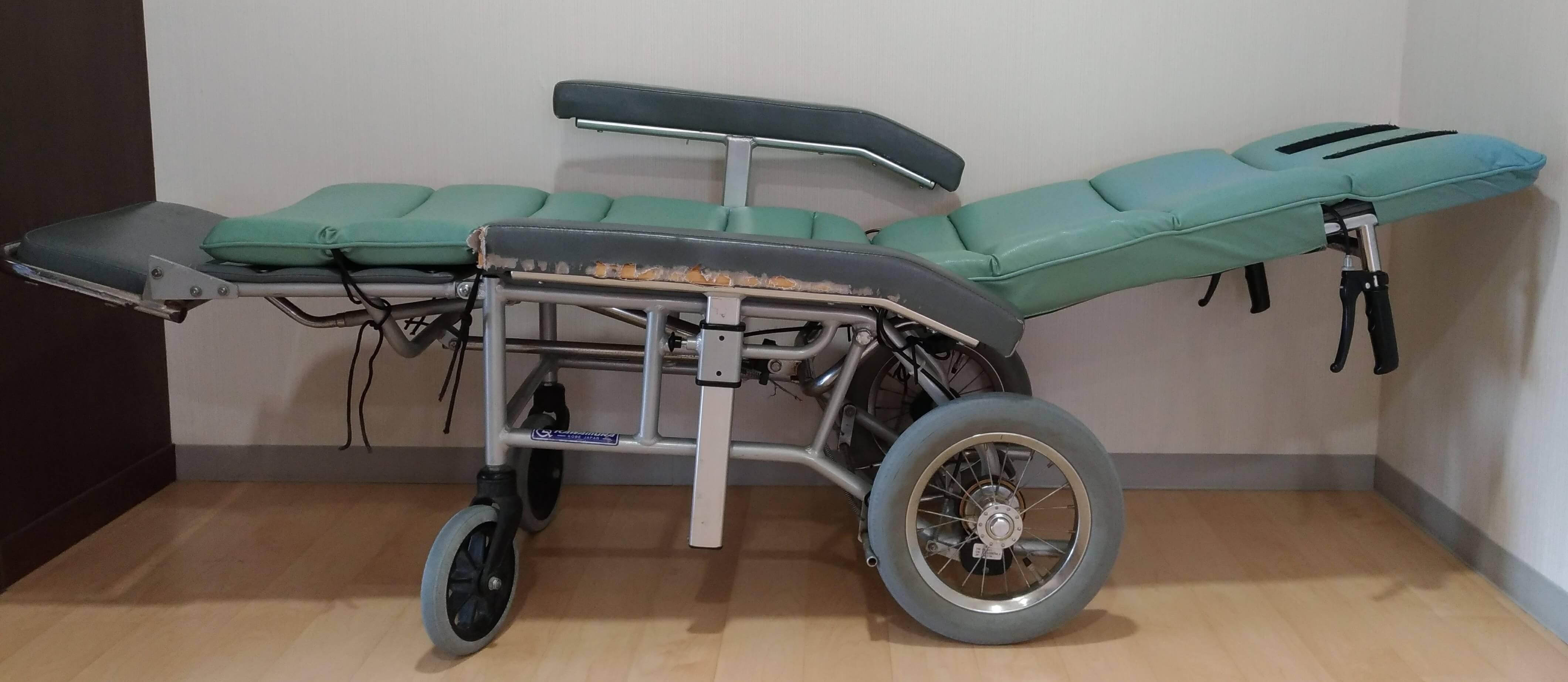 リクライニング型車椅子 リクライニング 機構