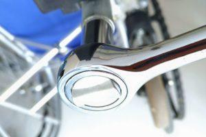 車椅子 フットサポート 調整方法