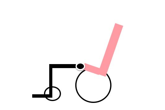 リクライニング車椅子 新方式